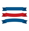 July fourth ribbons set vector image