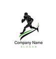 logo american football vector image