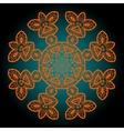 Orange outlined mandala vector image