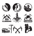 outdoor pictures adventures and mountain climbing vector image