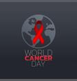 world cancer day icon design logo vector image