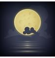 Yellow moon vector image