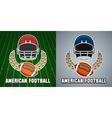 American football league college emblem vector image