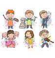 Professions kids set vector image vector image