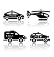 Set of transport icons - Police part 2 vector image vector image