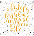 calligraphic letters set vector image