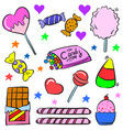 art candy colorful doodle style vector image