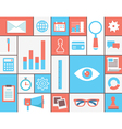 Flat concept of web analytics vector image
