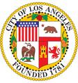 Los Angeles Seal vector image vector image