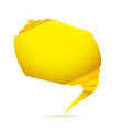 Yellow origami element vector image