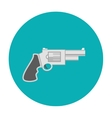 Revolver pistol icon flat vector image vector image