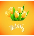 Beautiful card with tulip flowers vector image