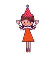 cute party girl cartoon vector image