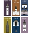 Famous cities vector image