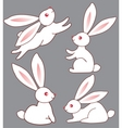 four bunnies for design vector image