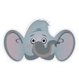 Mask elephant vector image