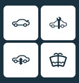set car dashboard icons vector image