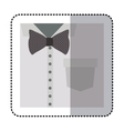 sticker close up formal shirt with bow tie vector image
