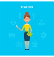 Teacher Woman Character Concept vector image