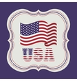 usa emblematic seal design vector image