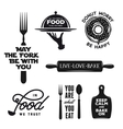 Food related typography set Quotes about cooking