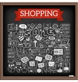 Shopping doodle set vector image vector image