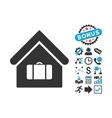 Luggage Room Flat Icon with Bonus vector image