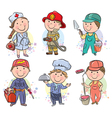 Professions kids set vector image