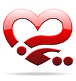 abstract heart sign vector image vector image