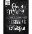 Poster Good Morning chalk vector image