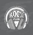retro rock music club shop logo vector image vector image