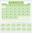 eco planner in green color vector image