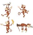 set cheerful monkeys Cartoon vector image vector image
