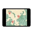 tablet map navigator vector image vector image
