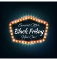Black friday light frame retro billboard vector image vector image