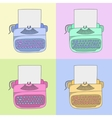 stylish typewriter vector image