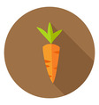 Carrot Vegetable Circle Icon vector image vector image
