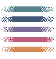 Set of colored modern pixel banners for headers vector image vector image