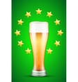 beer and gold stars vector image