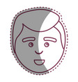 contour man with facial expression and hairstyle vector image