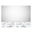 Empty gallery wall for images and advertisement vector image