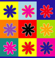 flower sign pop-art style vector image