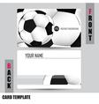 Modern Soccer Business-Card Set vector image