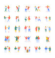 people flat icons set vector image