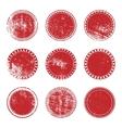 Red Grunge Stamp Set vector image
