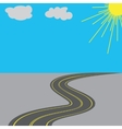 Road with yellow markings in the long term vector image