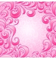 Background with abstract floral pattern vector image