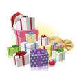 christmas gifts santa concept vector image