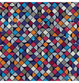 Geometric colorful squared maze background rhombic vector image vector image