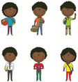 African-American school boys vector image